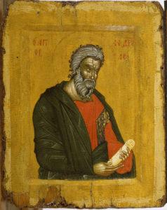 Андрей Первозванный, апостол; Византия. Греция. Македония; XIV в.