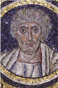 Ап. Андрей. Мозаика оратория Архиепископской капеллы. Равенна. 494–519 гг.