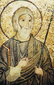 Ап. Андрей. Мозаика базилики Марторана в Палермо 40-50-е гг. XII в.