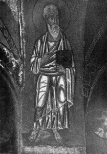 Апп. Петр и Андрей. Монастырь Хосиос Лукас, Фокида. XII в. Нартекс храма.