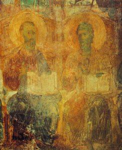 Фреска зап. стены Дмитриевского собора во Владимире. 1195 г.