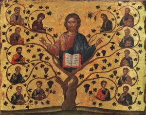 Христос Лоза Истинная (Христос Виноградная Лоза). Греция. Крит; XV в.